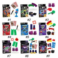 Wholesale card game magic - 9 Styles Magic Props Playing Poker Cards Table Game Standard Edition Magic Prop Fun Entermainment Board Game Kids Paty Favor CCA9728 50pcs
