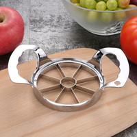 Wholesale pear corer slicer resale online - DHL Multi function Stainless Steel Apple cutter Slicer Pear Divider Fruit Vegetable Tools Corer blades Splitter Kitchen Tool Gadget