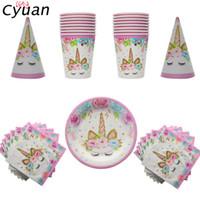 ingrosso il cappello del partito usa e getta-Set di stoviglie usa e getta per feste di compleanno di Cyuan Set di tovaglioli di carta per feste di compleanno