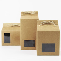Wholesale chocolate gift packing for sale - Kraft Paper Party Wedding Gift Bags Cookies Chocolates Candy Packing Boxes with Window wen6591