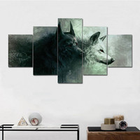 Wholesale pictures abstract art paintings online - Wolf Painting Wall Art Modular Panel Living Room Corridor Bedroom Frameless Modern Canvas Poster Arts Crafts Gifts Home Decor md2 bb