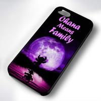 púrpura s5 al por mayor-Lilo Stich Purple Moon Phone Case para Iphone 5c 5s 6s 6plus 6splus 7 7plus Samsung Galaxy S5 S6 S6ep S7 S7ep