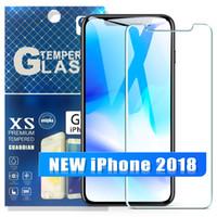 emballage iphone anti-reflets achat en gros de-Pour 2018 NOUVEAU Protecteur d'écran en verre trempé pour Samsung S8 S7 S6 Edge Plus pour Iphone XR XS MAX X 8 7 Plus
