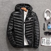 larga parka de invierno para hombres al por mayor-Moda delgada luz cálida para hombre diseñador chaquetas de manga larga deporte para hombre diseñador abrigos de invierno casual hombres parka abrigo envío gratis