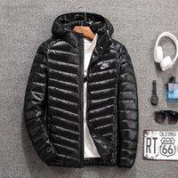 uzun ince ceket erkek toptan satış-Moda ince sıcak ışık mens tasarımcı ceketler uzun kollu spor mens tasarımcı kış mont casual erkekler parka coat ücretsiz kargo