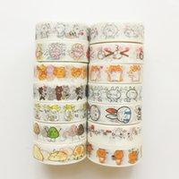 ingrosso animali a nastro washi-B02 Kawaii Cartoon Animals Nastro adesivo Washi Tape Forniture Scolastiche Album di Scrapbooking Album FAI DA TE Decor 2016