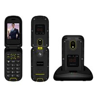 Wholesale slim digital mp3 resale online - Ioutdoor F2 Mobile Phone Three Prevention Rugged Waterproof Feature Slim Flip Dual Display Docking Station Inch Rugged CellPhone