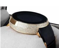 Wholesale custom digital watch - 2018 TOP Sale Mens Diamond Gold Watch Mens Full Casing 114 Chronograph Row Custom Digital Mens Sport Styles quartz watches