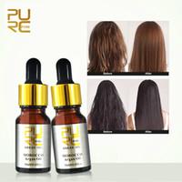 ingrosso capelli dell'olio marocchino-PURC Marocchino Puro Olio di Argan per la cura dei capelli Trattamento dei capelli Oi Hair 1PCS 10ML
