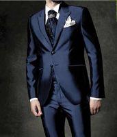 en iyi yeni varış ceketi toptan satış-Yeni Geliş Damat Smokin Groomsmen 23 Stilleri En İyi Adam Takım Elbise / Damat / Düğün / Balo / Akşam Yemeği Takımları (Ceket + Pantolon + Kravat + Yelek) 149