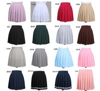 Wholesale school girl uniform anime - 2018 High Waist Pleated Skirt Anime Cosplay School Uniform Student Girl Pleated Skirt for Girl