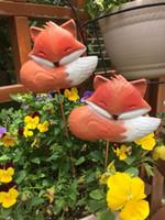 fleur zakka achat en gros de-Livraison gratuite, H30cm, fer petit renard Plug-in Jardin décoratif animal Fleur Corde équitation Porte Zakka jardinage Épicerie