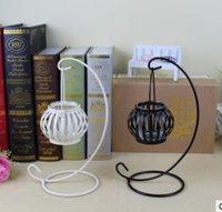 arts artisanaux bougies achat en gros de-Européenne Retro Citrouille Bougeoir Décoration Créative De Mariage D'anniversaire Cadeau D'étudiant Iron Arts Artisanat Bougeoirs