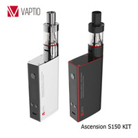 Wholesale Vaptio vape S150 KIT up to W electronic cigarette kit ml Atomizer VW VT Ni Ti SS ATC ecig inch OLED Screen ATC Coil ohm Metal