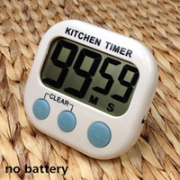 Wholesale magnetic countdown timer resale online - 2018 hot Digital Kitchen Timer Countdown timer with Magnetic Backing Stand LCD Display for Cooking Baking Sports Games Office