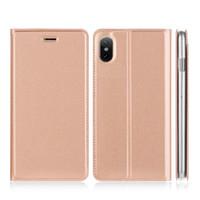 beste telefon steht großhandel-Beste Qualität Rose Gold Flip Abdeckung Telefon Fall stehen Handy Leder Fällen für Telefon X