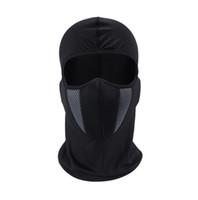 tam yüz maskesi kalkanı toptan satış-HEROBIKER Balaclava Motosiklet Yüz Maskesi Moto Kask Bandana Hood Kayak Boyun Tam Yüz Maskesi Rüzgar Geçirmez Toz Geçirmez Yüz Kalkanı (Perakende)