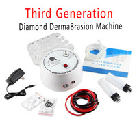 Wholesale diamond peel microdermabrasion - Multifunction Dermabrasion Machine 3 In 1 With Sprayer Vacuum For Head Spot Removal Microdermabrasion Facial Machine Diamond Skin Peeling CE