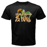 Wholesale arcade street games resale online - Double Dragon Classic Vintage Arcade Retro Game Street Fighting T shirt Black New Design Cotton Male Tee Shirt Designing