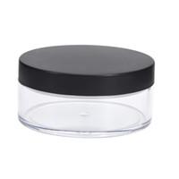 frasco de vidrio colgante collar al por mayor-1pc 50g de plástico vacía suelta Crisol Con Tamiz maquillaje cosmético tarro de contenedores de viaje recargable del perfume cosmética Tamiz 70