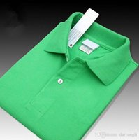 Wholesale cool american brands - New 2017 Summer Men Top quality Crocodile Embroidery Polo Shirts Short Sleeve Cool Cotton Slim Fit Casual Business Men Shirts Luxury Brand
