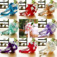 bouquet de fotos venda por atacado-Estúdio de casamento foto simulação segurando flores buquês de casamento mulheres estilo country nupcial do partido presentes flores artificiais CPA1587