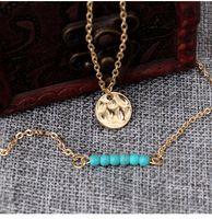 ingrosso lega ornamentale-European and American bursting multi-layer round piece Palm Necklace Alloy Products multi-strato ornamentale collarnecklace produttore direc