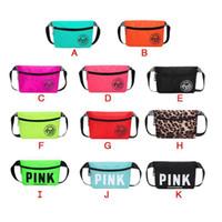 Wholesale pcs football resale online - 2018 New Fanny Pack Pink Letter Waist Belt Bag Beach Bags Waterproof Handbags Purses Outdoor Cosmetic Bag