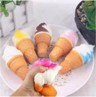 Wholesale rare soft toys online - 10cm Cute Jumbo Rare Squishy Ice Cream Cell Phone Straps Soft Scented Squishies Slow Rising Squeeze Key Toys Kids Toy Charms