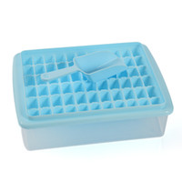 Wholesale rubber ice trays shapes resale online - Eco Friendly Grids Diy Creative Small Ice Cube Molds Square Shape Plastic Ice Tray Fruit Ice Cube Maker Bar Kitchen Tools Plastic