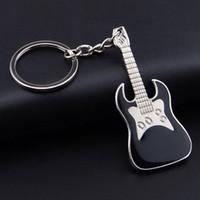 alet arabası toptan satış-Alaşım Renkli Gitar Anahtarlık Yaratıcı Keman Anahtarlık Enstrüman Anahtarlıklar Çanta Araba Anahtarlık Noel Hediye Kadınlar Kız H63F