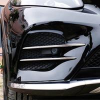 Wholesale air intake accessories - 4pcs Chrome Air Intake Grille Strip Trim for Mercedes Benz GLC Class GLC260 2017 Car Accessory