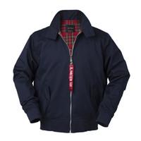ingrosso giacche da windbreaker in cotone per uomo-2018 Autunno harrington vintage giacca a vento bomber uomo stile europeo plus size cotone casual safari impermeabile