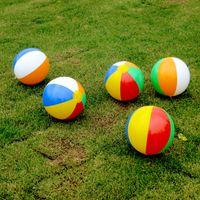 bolas de pólo aquático venda por atacado-Nova 23 cm cor inflável bola de jogar crianças polo aquático brinquedos de praia bola inflável rainbow ball T2I356