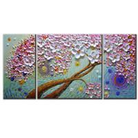 extracto de aceite púrpura al por mayor-Textura moderna pintura púrpura pintura al óleo ilustraciones contemporáneas florales decorativos decoración de la pared pintura hecha a mano abstracta arte