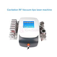 ingrosso macchina multifunzione rf-6 in 1 ultrasuoni 40Khz cavitazione Vacuum RF liposuzione laser lipo multipolare RF a diodi laser lipolaser anti invecchiamento macchina di ringiovanimento della pelle