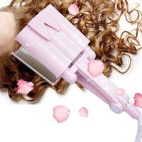 saçları incitmek toptan satış-32mm Dalga Curling Demir Seramik Saç Bigudi Derin Dalgalı Bigudi Saç zarar vermez