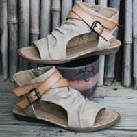 Wholesale Flat Fashion Sandals For Ladies - Summer Women's Sandals Plus Size Flat Heel Sandals For Lady Gladiator Style Fashion Outdoor Beach Women Casual Slippers
