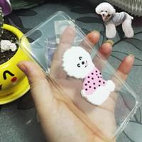 Wholesale transparent teddies - Cartoon Teddy dog pattern case for Samsung galaxy note J3 J5 J7 (2016) (2017) J310 J510 J710 transparent tpu soft slim Ultra shockproof