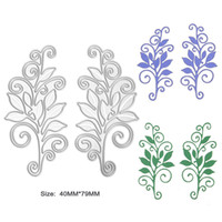 Wholesale Craft Card Designs - 2pcs Set New Flower Vine Design Metal Steel Cutting Die Stencil for DIY Scrapbooking Album Embossing Paper Card Decorative Craft