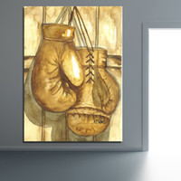 Wholesale box frame poster for sale - Pop Art Wall Decor Boxing Gloves Wall Pictures for Living Room Office Posters and Prints Home Decor No Framed