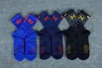 meias toweling mens venda por atacado-New KD Paul George elite meias meias mens de alta qualidade espessura toalha fundo esportes meias masculinas meias longas de basquete profissional