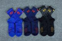 kaliteli uzun çoraplar toptan satış-Yeni KD Paul George elite çorap çorap mens yüksek kaliteli kalın havlu alt spor erkek çorap profesyonel uzun basketbol çorap