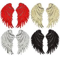 ancre de fer rouge achat en gros de-8P-11 Haute Qualité 3D coudre sur les patchs ailes patch paillettes patch coudre sur la casquette et le sac 2 ailes un ensemble