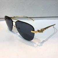 vintage rahmenlose sonnenbrille großhandel-Luxus 6205253 Sonnenbrille für Männer Oval Frameless Beliebte UV Schutz Männer Marke Designer Sonnenbrille Vintage Retro-Stil mit Fall kommen
