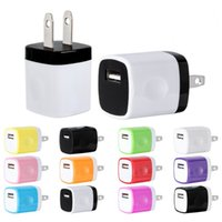 Wholesale iphone block - 200pcs lot 1Amp Universal Home Travel Wall Charger Plug Power Adapter Charging Block for iPhone 8 7 6S Samsung Charger