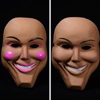 máscara de cara de niña caliente al por mayor-¡Caliente! Nueva Halloween Horror Mask Bar Party Performance Props mujeres lady girl cara completa máscaras de payaso