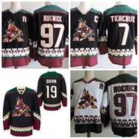 Discount phoenix hockey jersey - Vintage Phoenix Coyotes Vintage 7 Keith Tkchuk Hockey Jerseys Black White CCM Stitched Arizona Coyote Jerseys C Patch