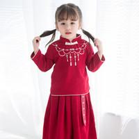 I vestiti delle neonate di stile cinese regolano i nuovi vestiti degli  studenti I vestiti cinesi di nuovo anno Costumes le neonate dolce cheongsam  + il ... 3ea82d658ec