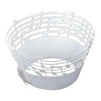 ingrosso involucro di muffin-Top 60Pcs Lace Muffin Case Cupcake Paper Liner, Note musicali Staff Pattern